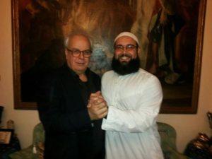 presidente Ioannis Davilis con l'Imam Saifeddine Maaroufi
