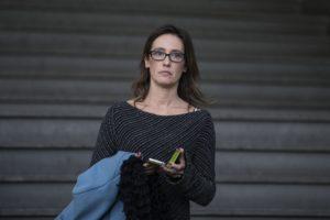 Ilaria Cucchi lascia l'aula dopo la sentenza della corte d'appello sul processo Stefano Cucchi. Roma 31 ottobre 2014. ANSA/ANGELO CARCONI