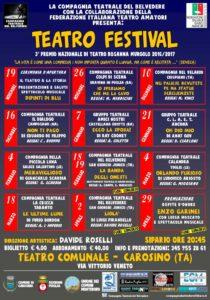 Manifesto TEATRO FESTIVAL 2016-17