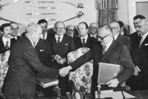 Foto del trattato di Osimo
