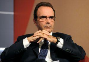 Il presidente di Asstel, Stefano Parisi, durante il convegno annuale dei giovani imprenditori di Confindustria, oggi 29 ottobre 2010 a Capri. ANSA / ETTORE FERRARI