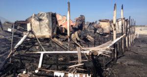 LIDO BUIENA VENTURA distrutto dalle fiamme