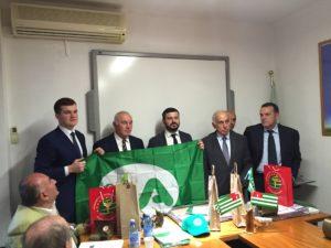 visita delegazione Abcasia scambio doni
