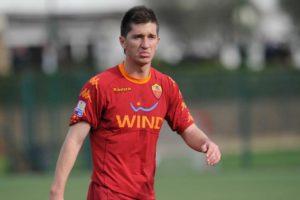 Stefano Pettinari con la maglia della Roma Primavera