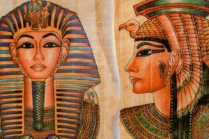 Marco Antonio e Cleopatra (dipinto scoperto nella ritrovata tomba dei due) (foto GreenMe.it 14 gennaio 2019)