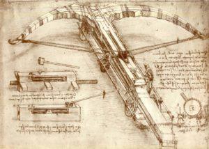 4-balestra-gigante-leonardo-codice-atlantico1488-1489-foglio-149r-armi-varie-e-balestra-gigante